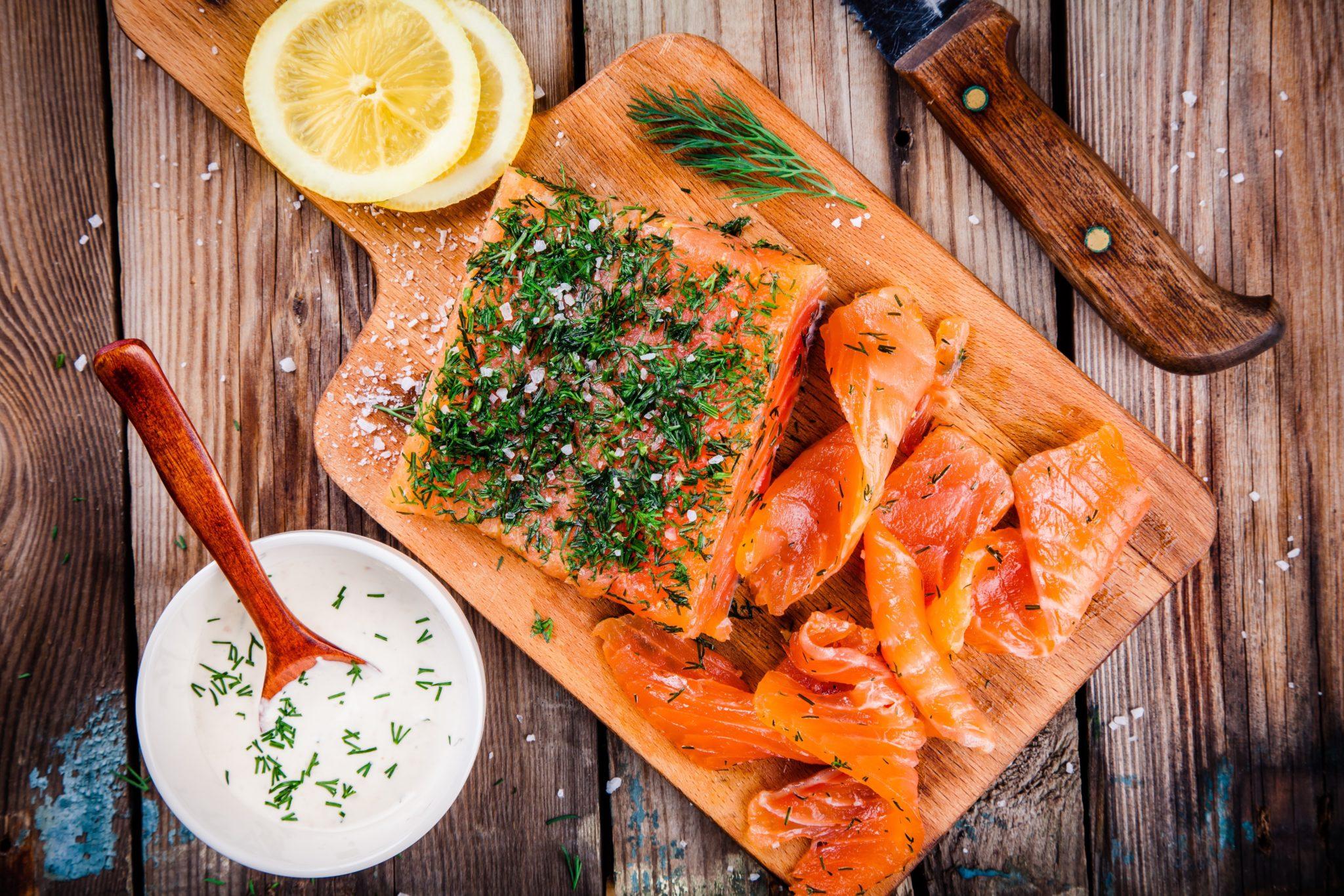 gravlax saumon