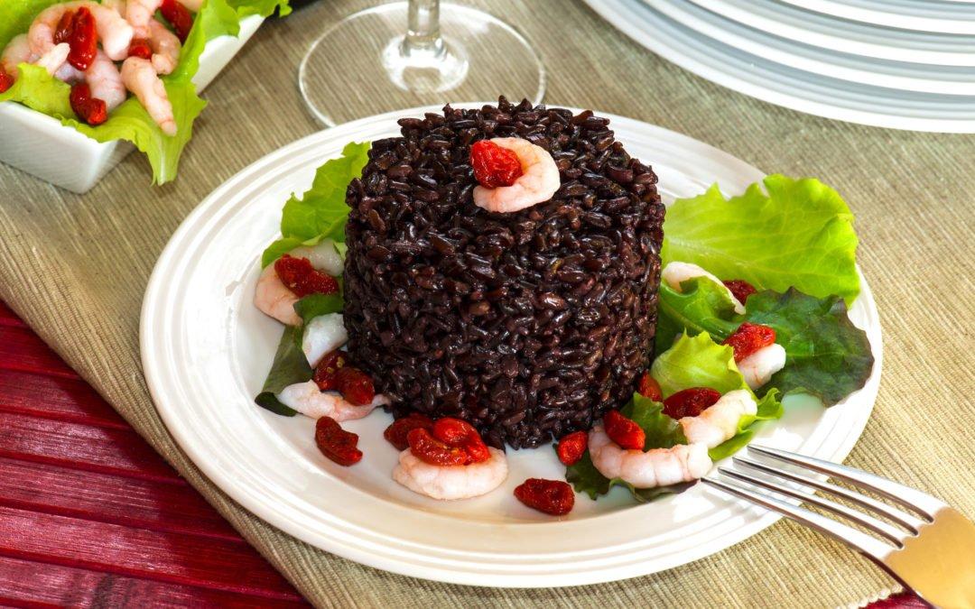 Recette de Risotto de riz noir aux crevettes