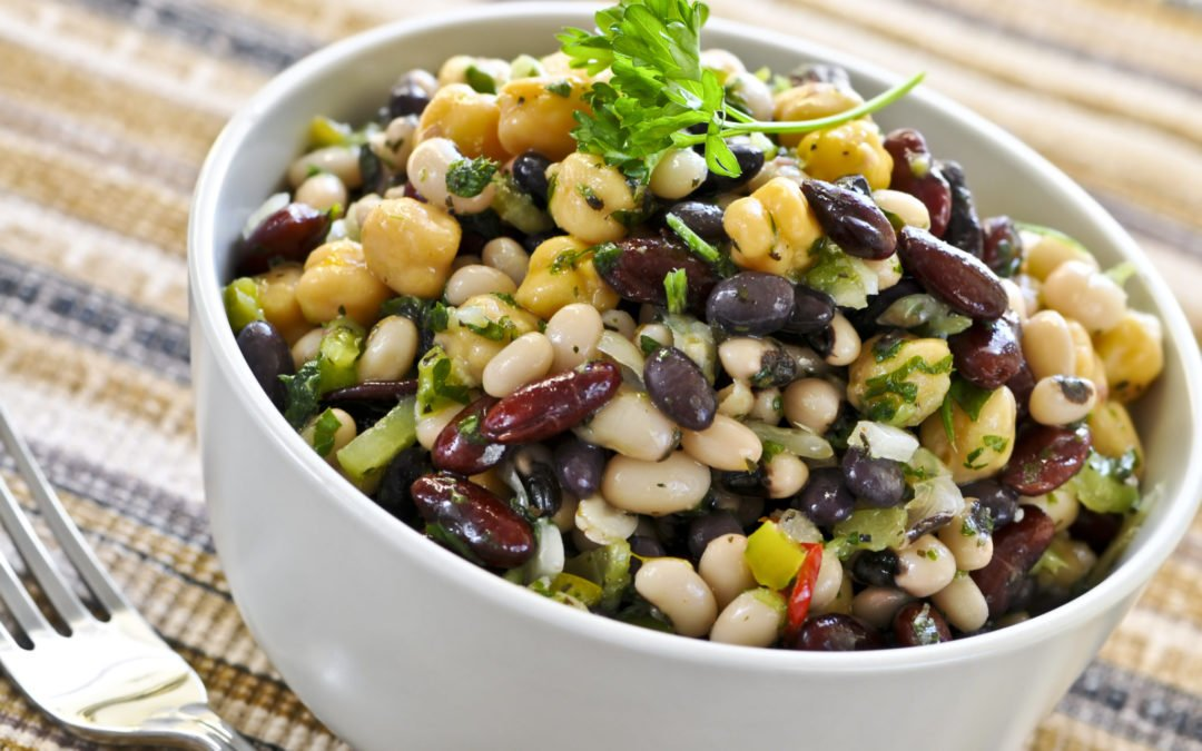 Recette de Salade végétarienne de légumineuses